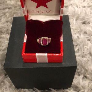 COPY - Ruby rose gold ring sz:5